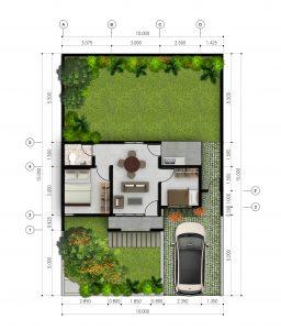 perumahan pelangi residence tanjungpandan belitung tipe 39