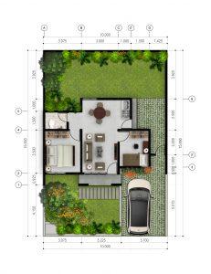 perumahan pelangi residence tanjungpandan belitung tipe 48