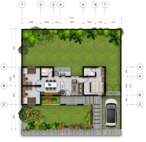 perumahan pelangi residence tanjungpandan belitung tipe 62