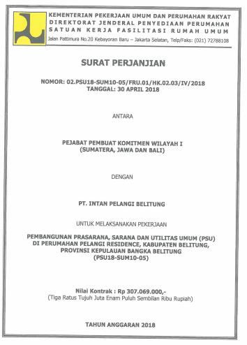 surat kontrak PUPR